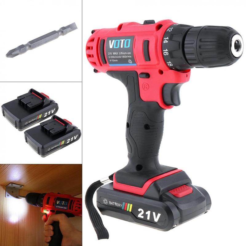 1X-VOTO-Vt104-Ac-100-240V-Sin-Cable-21V-Destornillador-Taladro-Electrico-X7W9 miniatura 6