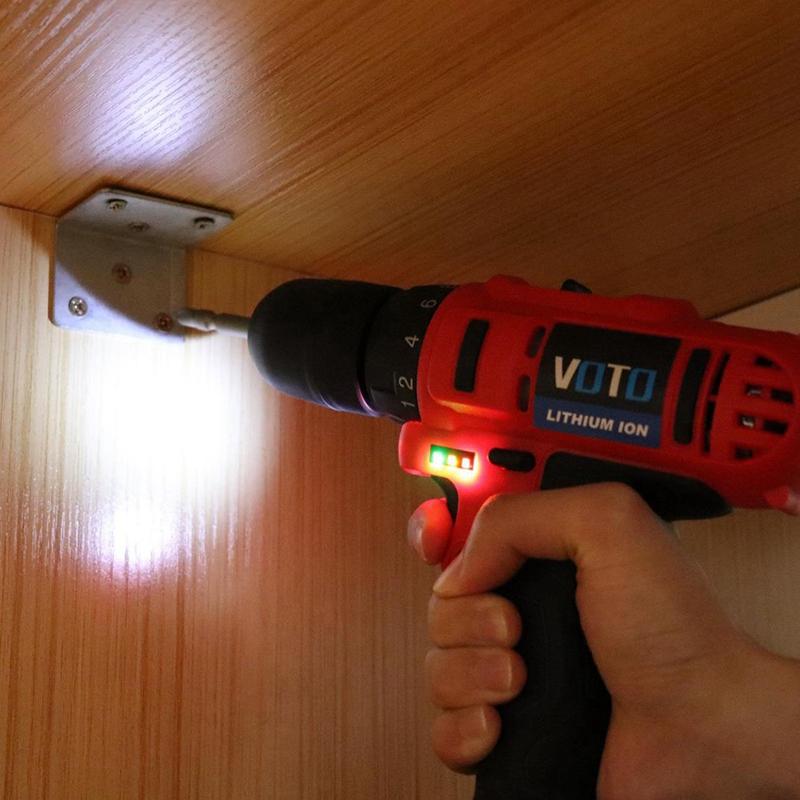 1X-VOTO-Vt104-Ac-100-240V-Sin-Cable-21V-Destornillador-Taladro-Electrico-X7W9 miniatura 11