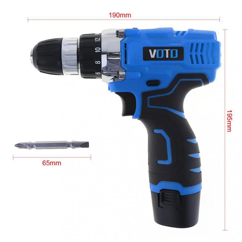 1X-VOTO-Vt601-12-V-Destornillador-Taladro-Electrico-Inalambrico-Destornil-Y4X8 miniatura 5