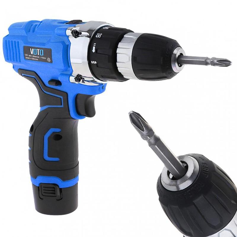 1X-VOTO-Vt601-12-V-Destornillador-Taladro-Electrico-Inalambrico-Destornil-Y4X8 miniatura 6