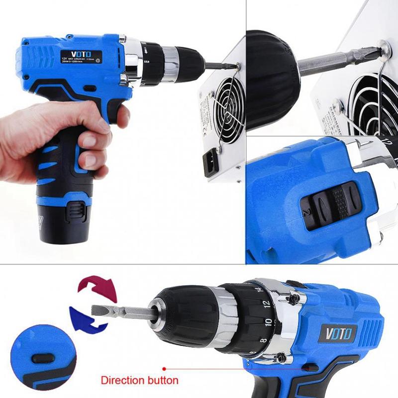 1X-VOTO-Vt601-12-V-Destornillador-Taladro-Electrico-Inalambrico-Destornil-Y4X8 miniatura 10