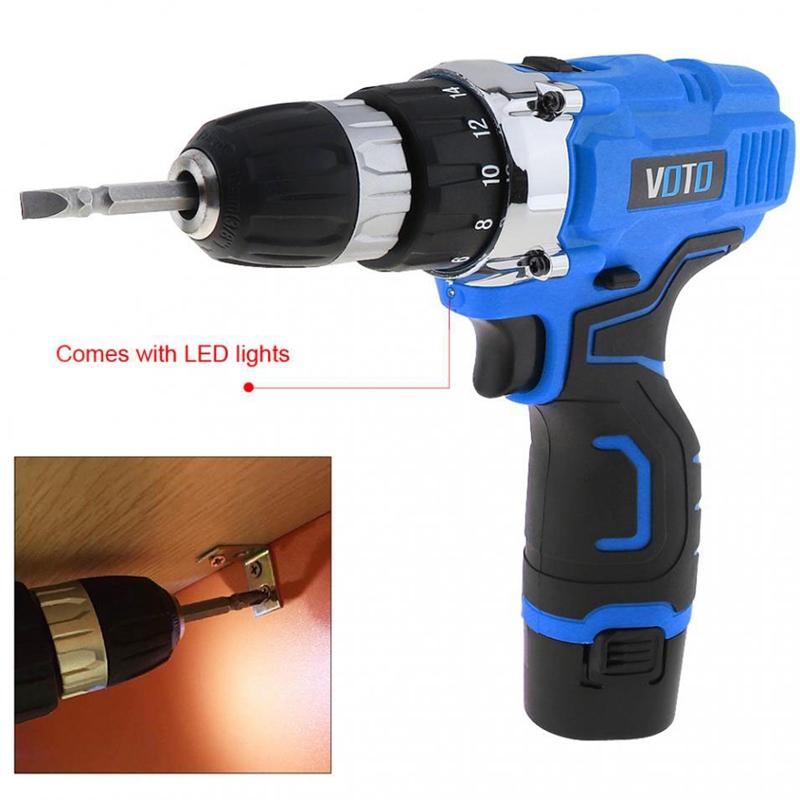 1X-VOTO-Vt601-12-V-Destornillador-Taladro-Electrico-Inalambrico-Destornil-Y4X8 miniatura 11