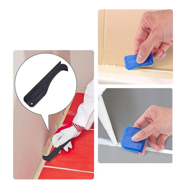 miniatuur 11 - 5X(17 Pieces Caulking Tool Kit Silicone Sealant Finishing Tool Grout Scraper C K