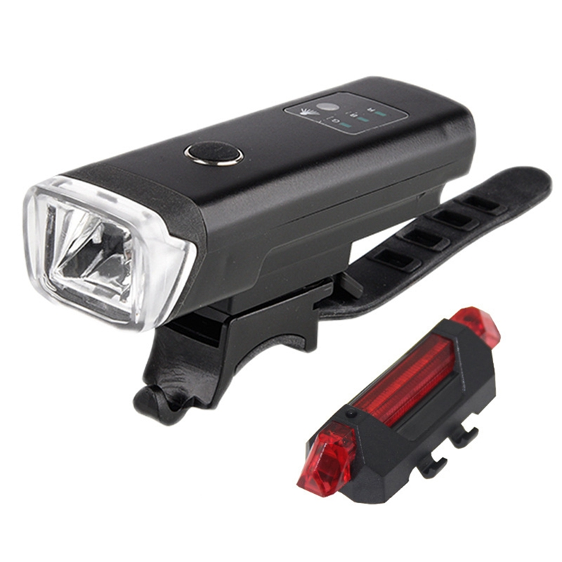10X(Phare Vélo Jeu Lampe Arrière Vélo,Lampe Avant Et Arrière LED Vélo Recha 2X5)