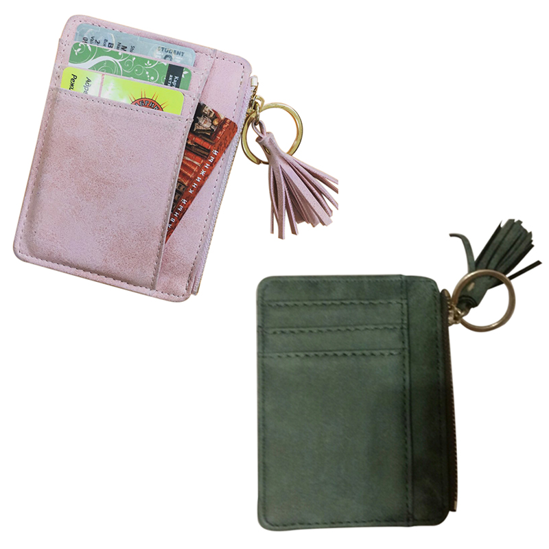 03e0c1575767 Details about Slim Women Wallet Short Bag Small Pu Leather Credit Card  Holders Thin Tasse I2S3