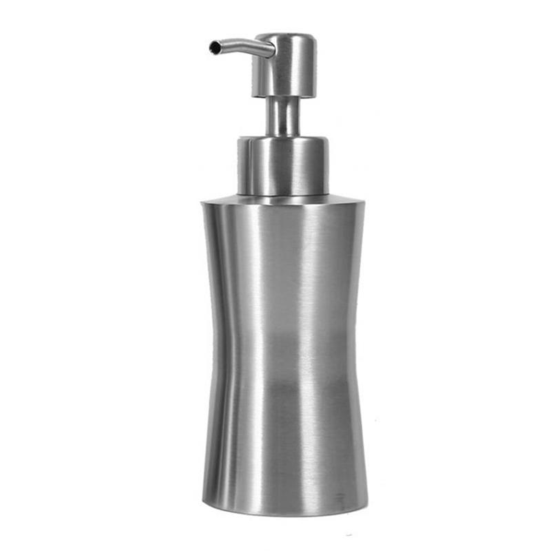 304-Dispenser-Di-Sapone-Liquido-In-Acciaio-Inox-Bagno-Doccia-Pompa-Di-Eroga-C9F5