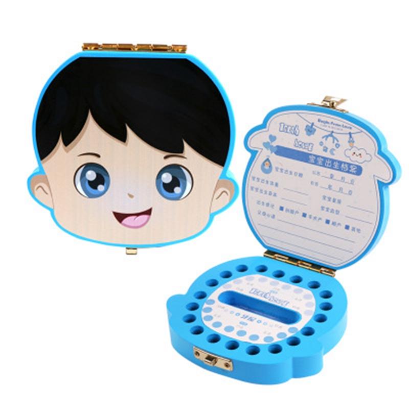 Baby-Zahn-Box-Holz-Milch-Zaehne-Organizer-Lagerung-Jungen-Maedchen-Speichern-R2O1 Indexbild 3
