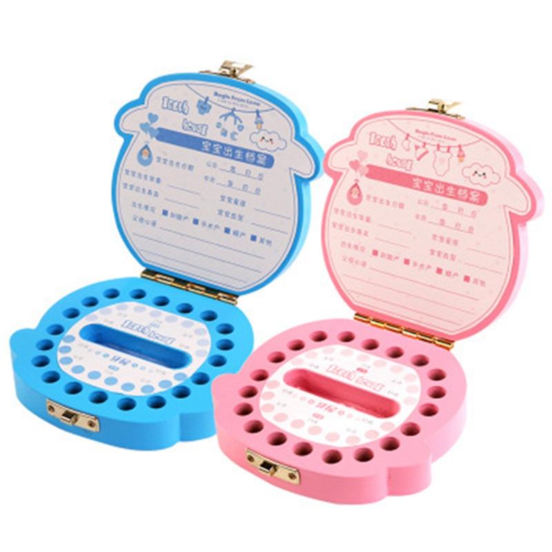 Baby-Zahn-Box-Holz-Milch-Zaehne-Organizer-Lagerung-Jungen-Maedchen-Speichern-R2O1 Indexbild 6