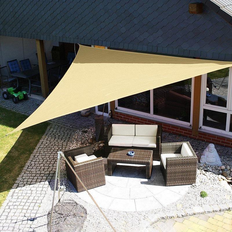 Dreieck-Sonnen-Schutz-Segel-Sonnen-Schutz-Zelt-Garten-Terrasse-Schwimmbad-S-P2J5 Indexbild 3