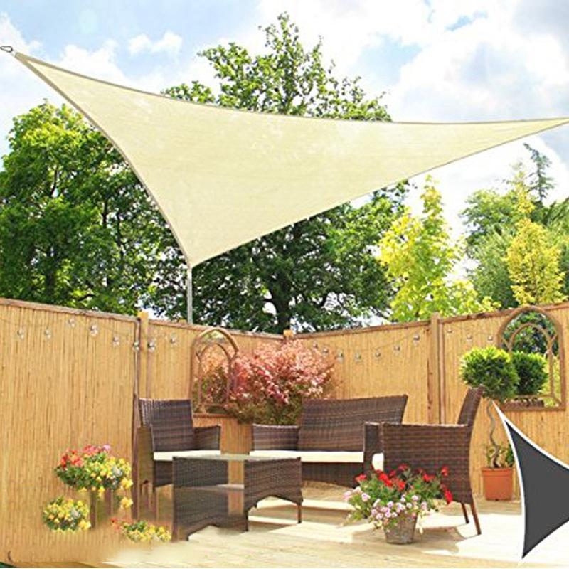 Dreieck-Sonnen-Schutz-Segel-Sonnen-Schutz-Zelt-Garten-Terrasse-Schwimmbad-S-P2J5 Indexbild 12