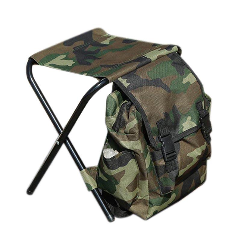 9X (Portable Pliant pêche chaises Camouflage Outdoor Multi-fonction leisur Z9W6