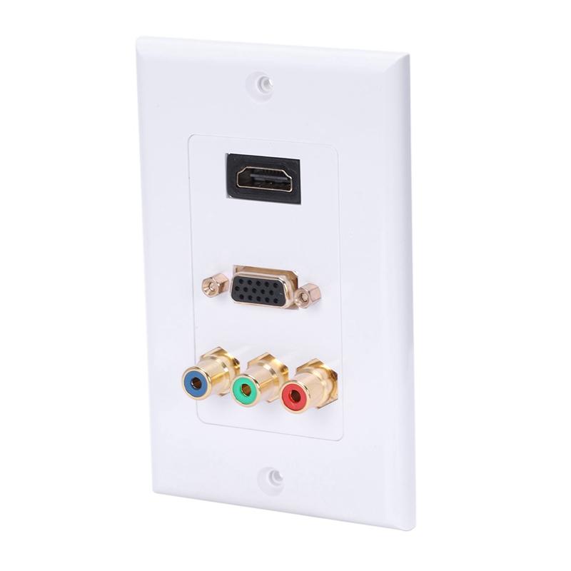 Hdmi-Vga-3-Rca-Panel-Composite-Tre-nel-uno-Integrato-Pannello-Multimediale-A1F3