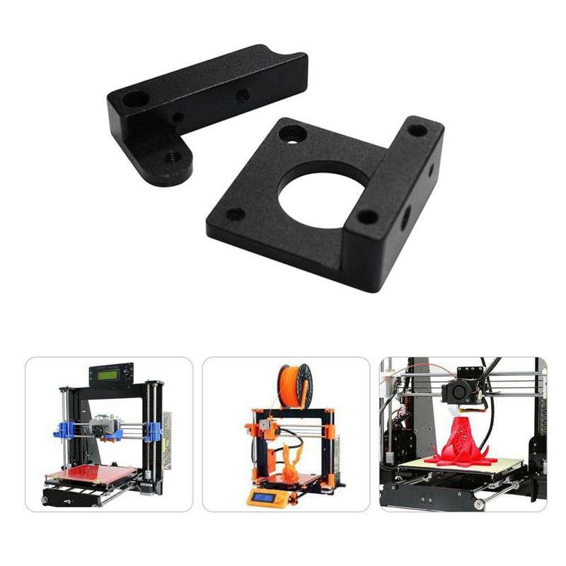 3D-Printer-Parts-Mk8-Extruder-Black-Edition-Aluminum-Block-Diy-Kit-Makerbot-Z1A3 miniature 3