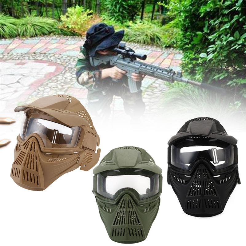 Tactical-Outdoor-Lens-Mask-Full-Face-Breathable-Cs-Hunting-Military-Army-Ai-W6M4 thumbnail 19