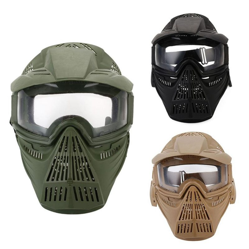 Tactical-Outdoor-Lens-Mask-Full-Face-Breathable-Cs-Hunting-Military-Army-Ai-W6M4 thumbnail 20