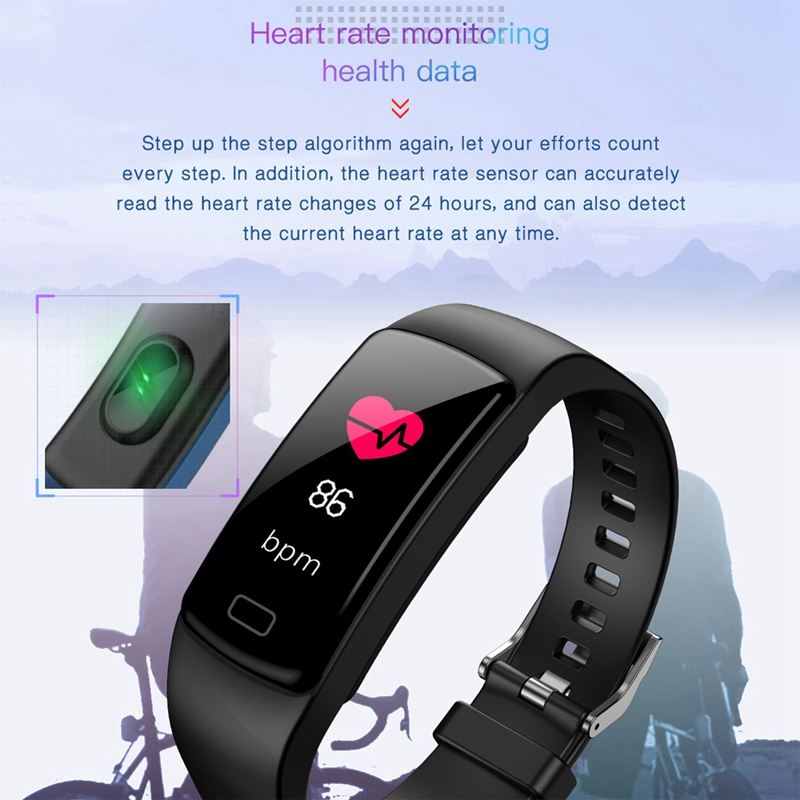 Banda-de-Rastreador-de-Actividad-Inteligente-Y9-Pulsera-de-Fitness-Monitor-d-1U6 miniatura 3