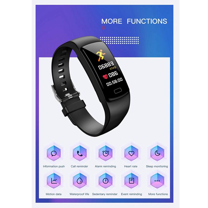 Banda-de-Rastreador-de-Actividad-Inteligente-Y9-Pulsera-de-Fitness-Monitor-d-1U6 miniatura 5