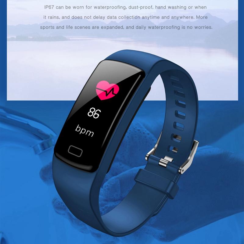 Banda-de-Rastreador-de-Actividad-Inteligente-Y9-Pulsera-de-Fitness-Monitor-d-1U6 miniatura 6