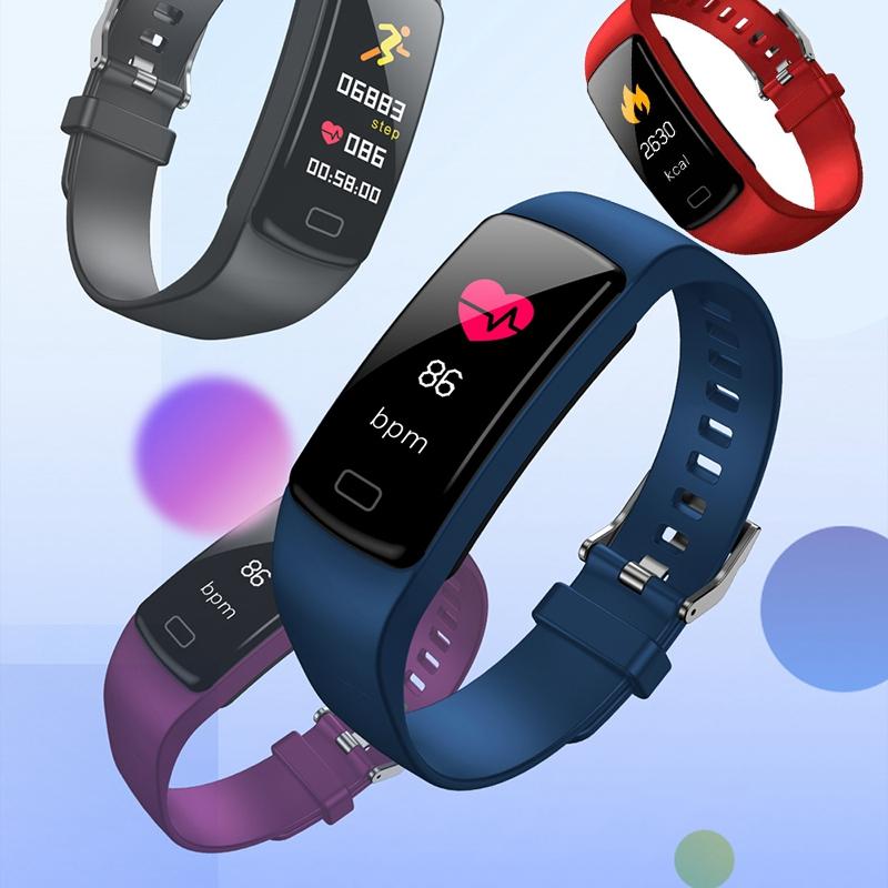 Banda-de-Rastreador-de-Actividad-Inteligente-Y9-Pulsera-de-Fitness-Monitor-d-1U6 miniatura 32