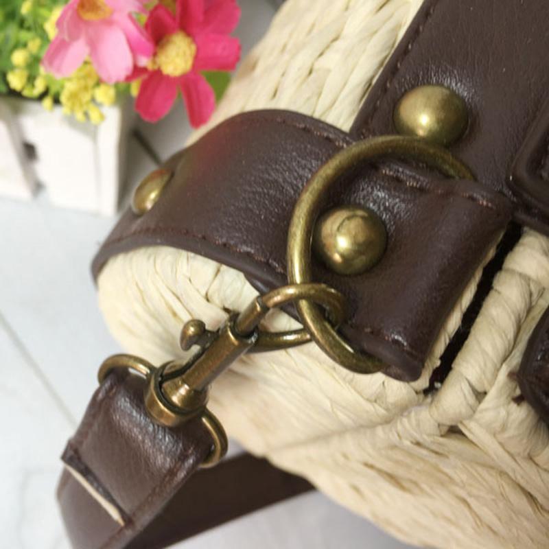 Sacs-En-Rotin-Pour-Femme-Sacs-A-Bandouliere-Concepteur-Vintage-Sacs-A-Main-F1N8 miniature 6