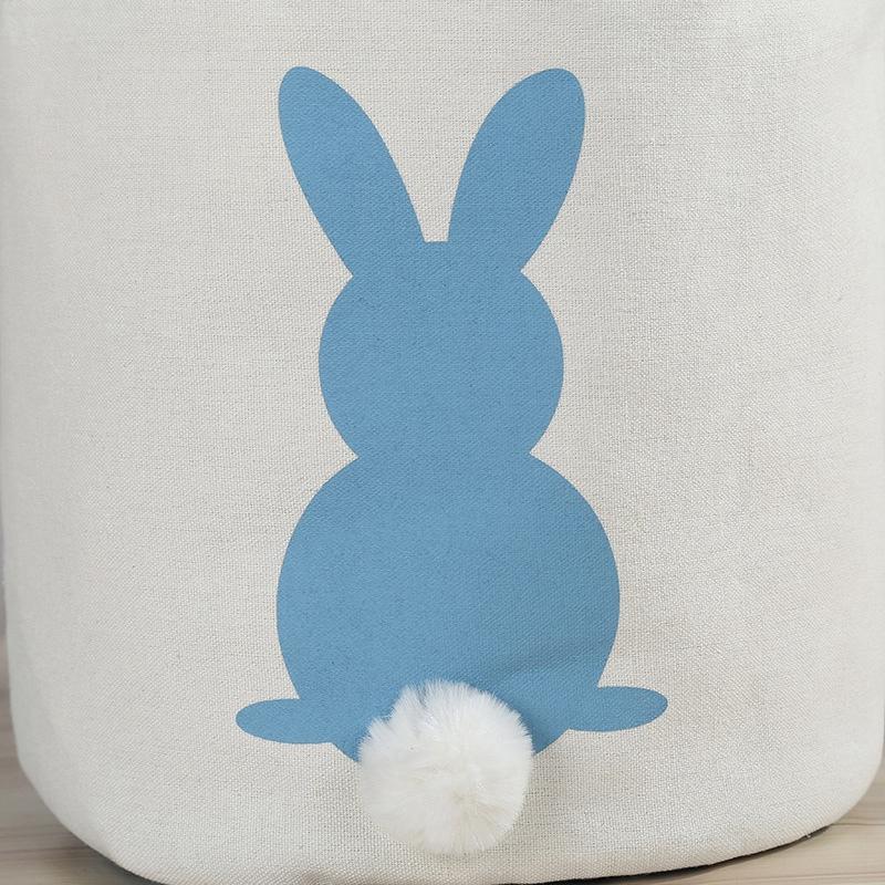 Cesta-De-Huevo-De-Pascua-Regalo-De-Lona-Impreso-Conejito-Conejo-De-Vacacion-R2D8 miniatura 13
