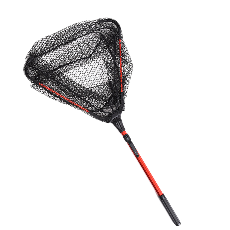 10X(Fly Fishing Single Section e-Folding Hand Net Fishing Net 80cm F2P1)