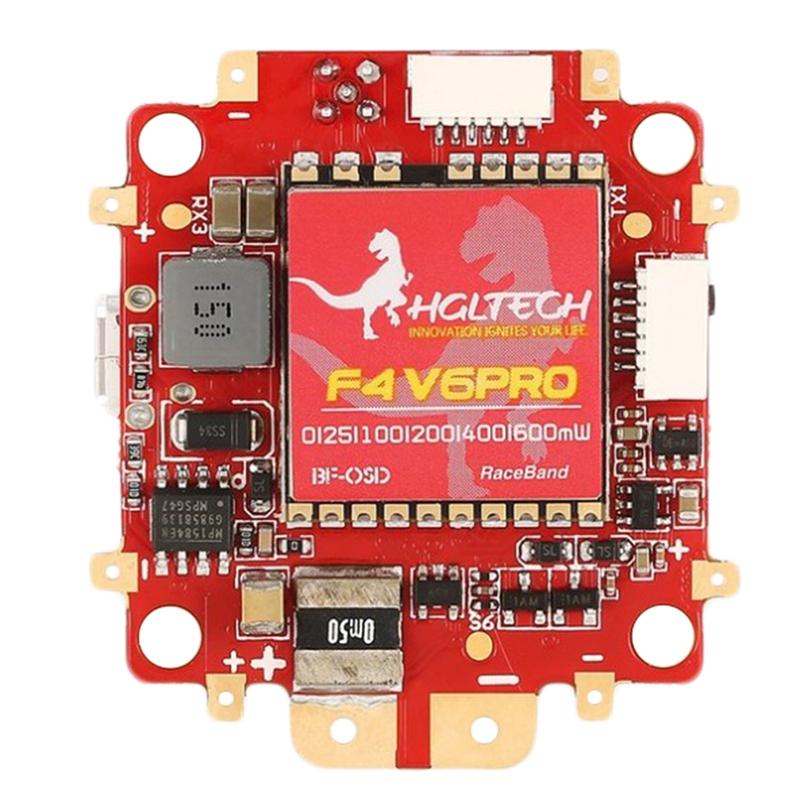 2X (hglrc F4 V6 Pro FC 5.8Ghz 48Ch conmutable VTX W 5V BEC OSD PDB P1M5)
