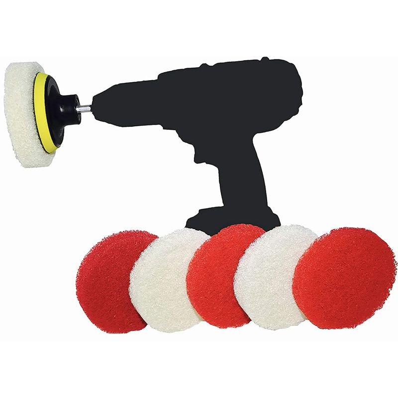 Drill-Brush-Scrub-Pad-With-Drill-Attachment-For-Tile-Sink-Water-O4K5 thumbnail 2