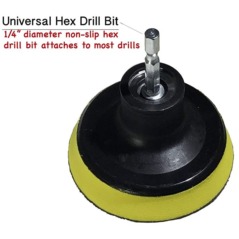 Drill-Brush-Scrub-Pad-With-Drill-Attachment-For-Tile-Sink-Water-O4K5 thumbnail 3