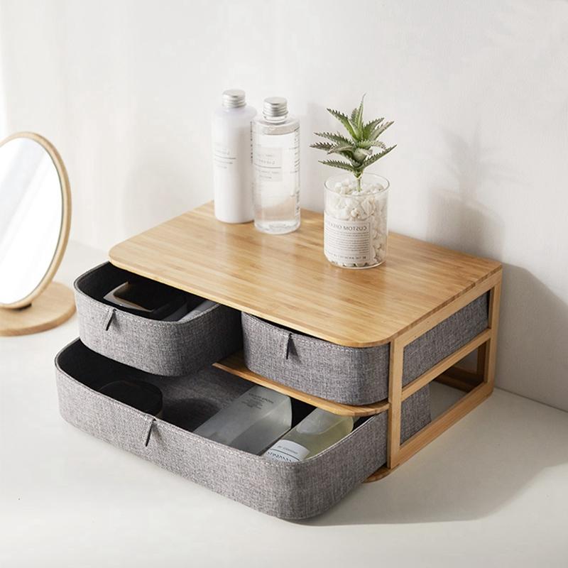 Brown Paper Desktop Drawer Type Sundries Storage Box Study Office DIY Organ O4B1