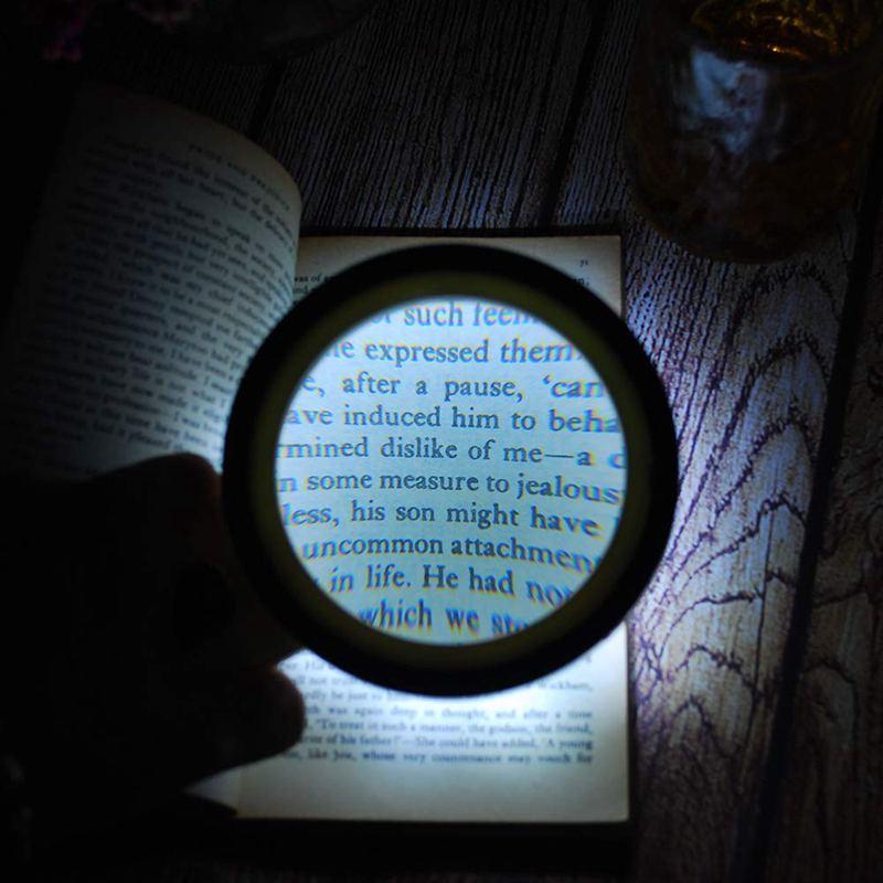 Lupe-mit-Licht-30X-Lupe-mit-12-Facher-Vergroesserung-fuer-Beleuchtete-Beleuch-M5S9 Indexbild 2