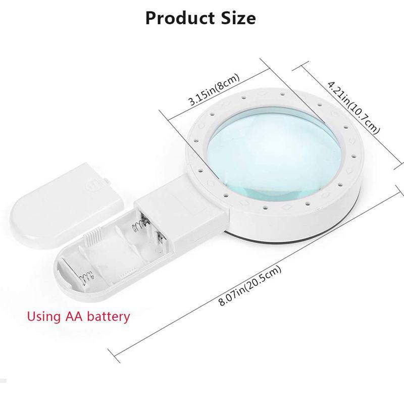 Lupe-mit-Licht-30X-Lupe-mit-12-Facher-Vergroesserung-fuer-Beleuchtete-Beleuch-M5S9 Indexbild 3