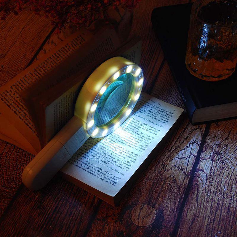 Lupe-mit-Licht-30X-Lupe-mit-12-Facher-Vergroesserung-fuer-Beleuchtete-Beleuch-M5S9 Indexbild 4