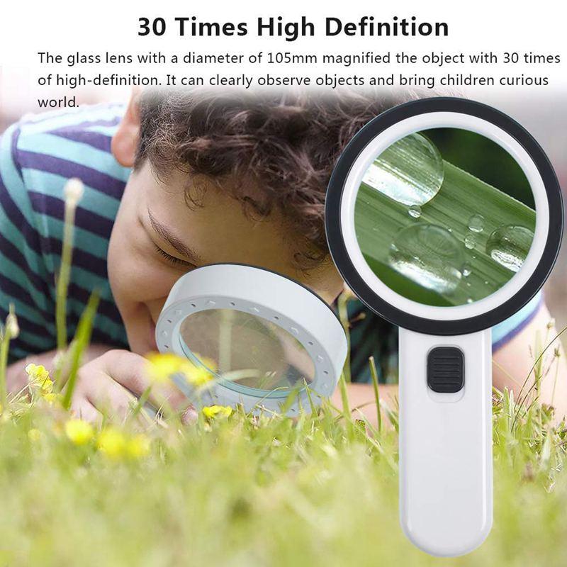 Lupe-mit-Licht-30X-Lupe-mit-12-Facher-Vergroesserung-fuer-Beleuchtete-Beleuch-M5S9 Indexbild 6