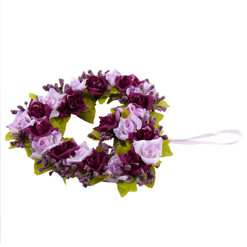 Heart-Shaped-Artificial-Flower-Wreath-Door-Decoration-Hanging-Wreaths-with-W6M2 thumbnail 14