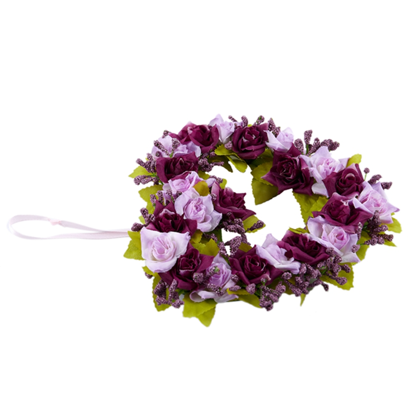 Heart-Shaped-Artificial-Flower-Wreath-Door-Decoration-Hanging-Wreaths-with-W6M2 thumbnail 16