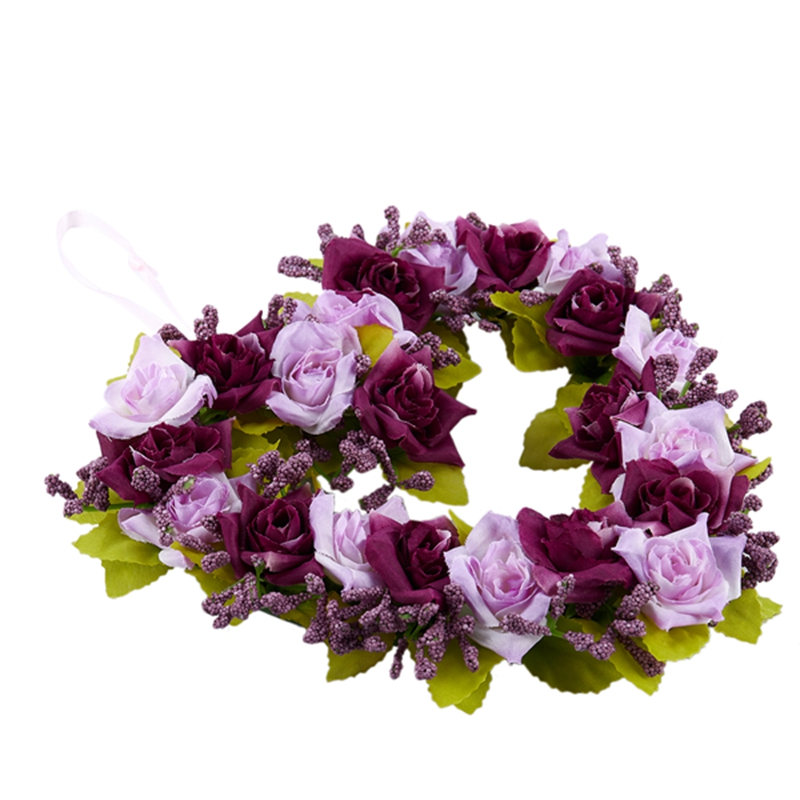 Heart-Shaped-Artificial-Flower-Wreath-Door-Decoration-Hanging-Wreaths-with-W6M2 thumbnail 17