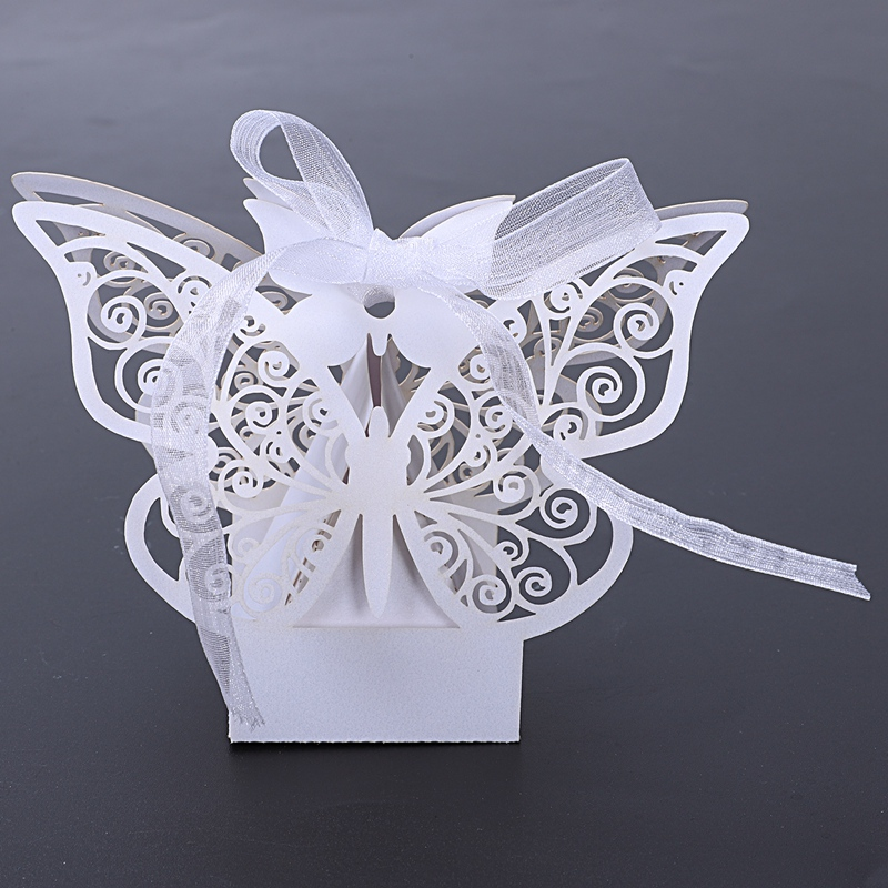 50pcs-Butterfly-Wedding-Favour-Box-Birthday-Party-Gifts-Candy-Boxes-Pink-J4I6 thumbnail 13