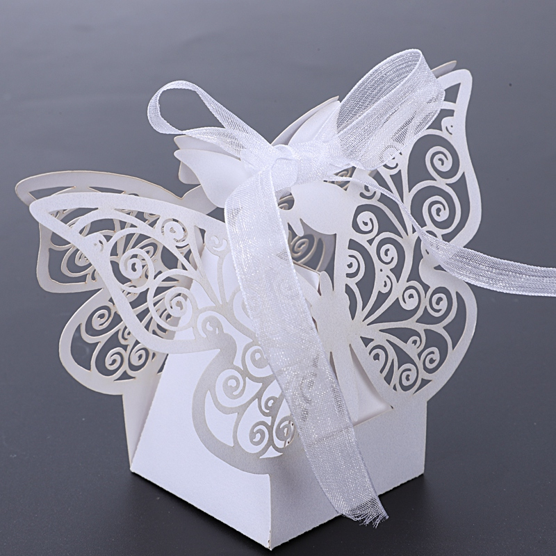 50pcs-Butterfly-Wedding-Favour-Box-Birthday-Party-Gifts-Candy-Boxes-Pink-J4I6 thumbnail 14