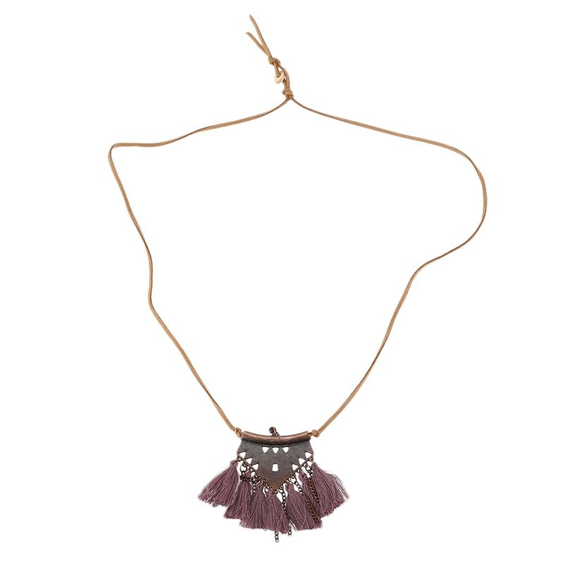 catena-del-maglione-collane-a-catena-ciondolo-in-pelle-Lungo-nappa-collane-M4B4 miniatura 3