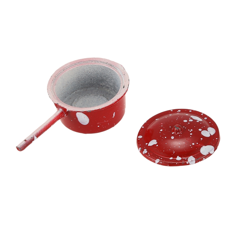 1:12 Dollhouse Miniature Cookware Pot Pan SET 8pcs W2M8