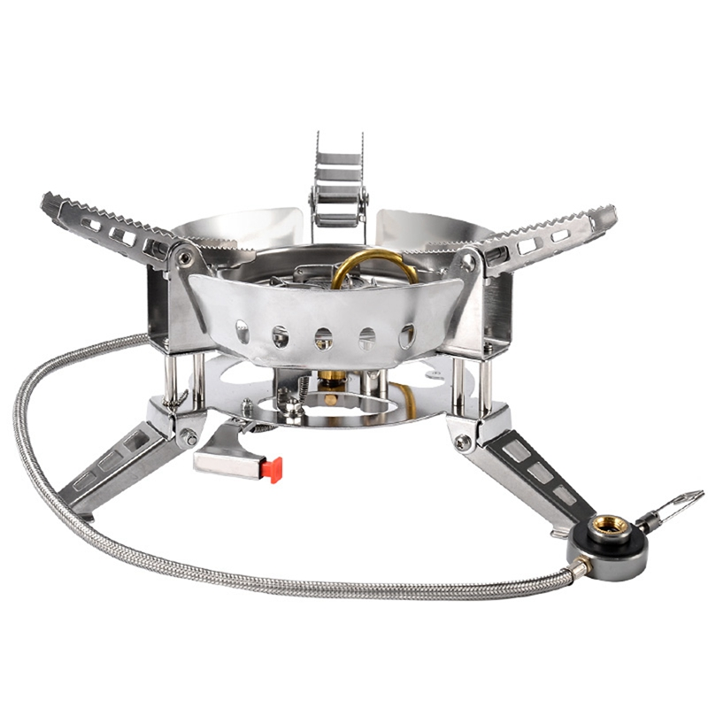 Foldable Split Gas Stove Portable Picnic Windproof Gas Stoves Cooking Bbq O L4N2