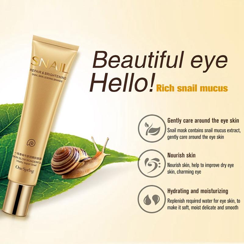 One-Spring-Snail-Essence-Repair-Eye-Serum-Whitening-Moisturizing-Anti-Aging-S3Z8 thumbnail 4