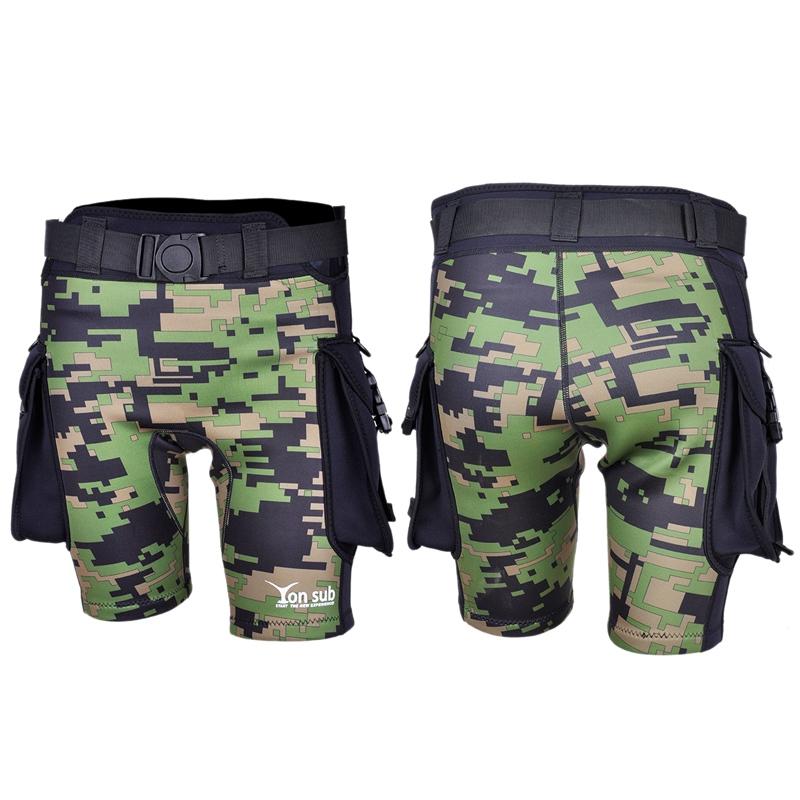 2X (yonsub verde Camuflaje Neopreno Buzo Surf Pantalones Hombres Sumergible P K3V1)