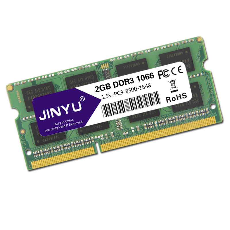 JINYU-Ddr3-1066mhz-1-5V-204Pin-Ram-Memory-For-Laptop-K1K3 thumbnail 4