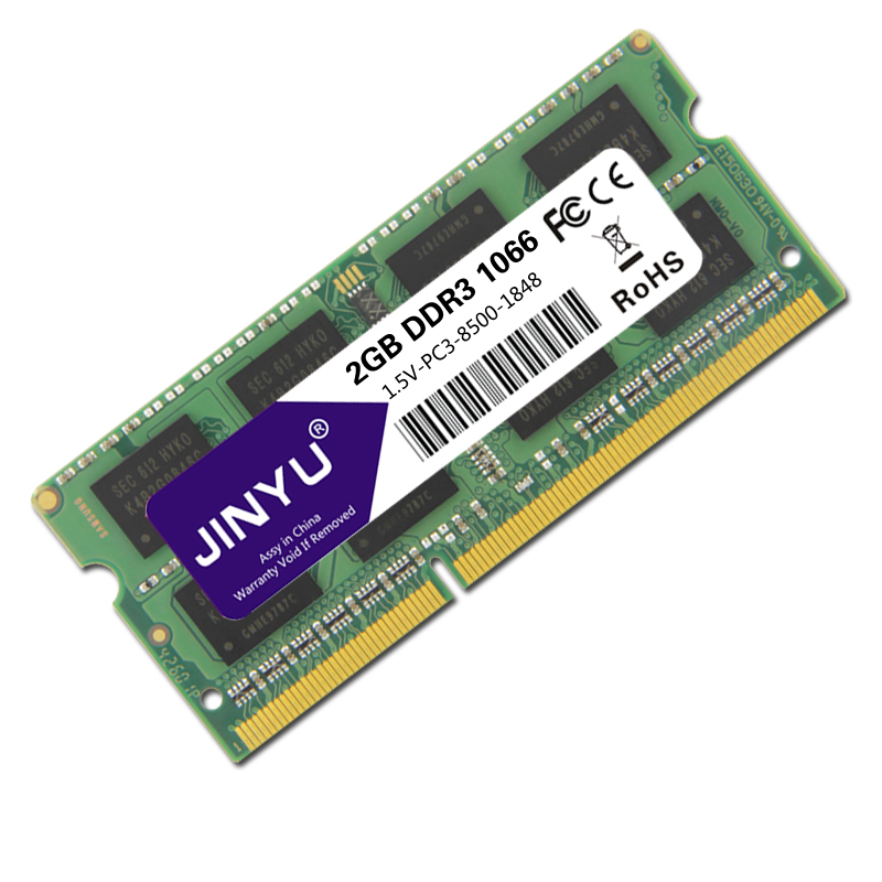JINYU-Ddr3-1066mhz-1-5V-204Pin-Ram-Memory-For-Laptop-K1K3 thumbnail 6