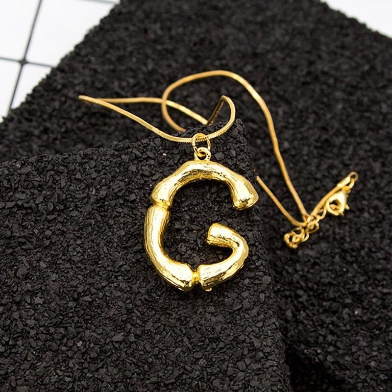 Joya-Collar-De-Letra-Collar-Colgante-De-Cadena-De-Oro-Pendiente-De-Grande-L-Z6M8 miniatura 10
