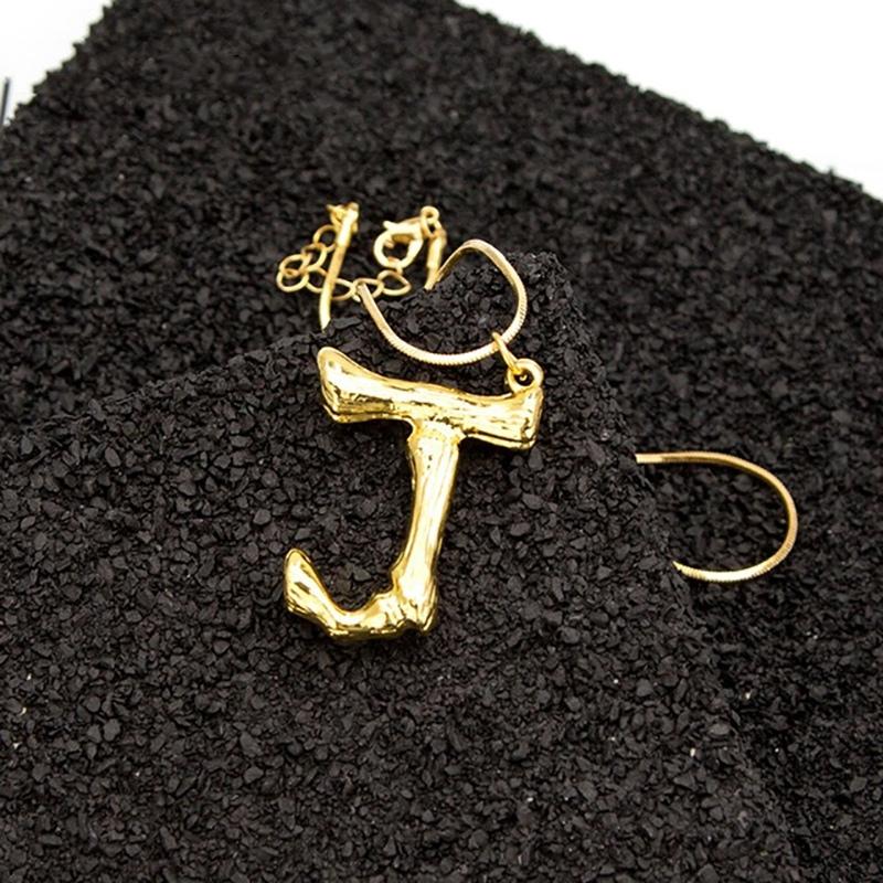 Joya-Collar-De-Letra-Collar-Colgante-De-Cadena-De-Oro-Pendiente-De-Grande-L-Z6M8 miniatura 31