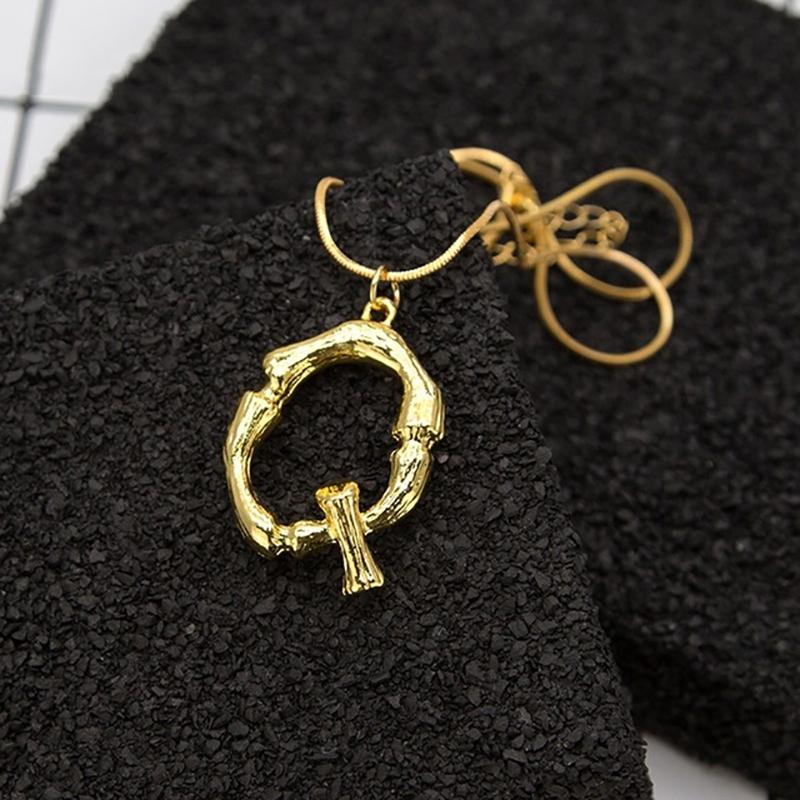 Joya-Collar-De-Letra-Collar-Colgante-De-Cadena-De-Oro-Pendiente-De-Grande-L-Z6M8 miniatura 66