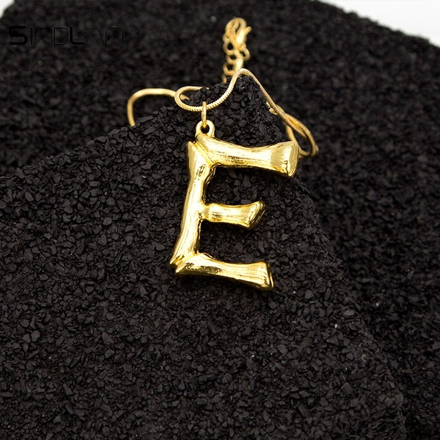 Joya-Collar-De-Letra-Collar-Colgante-De-Cadena-De-Oro-Pendiente-De-Grande-L-Z6M8 miniatura 94
